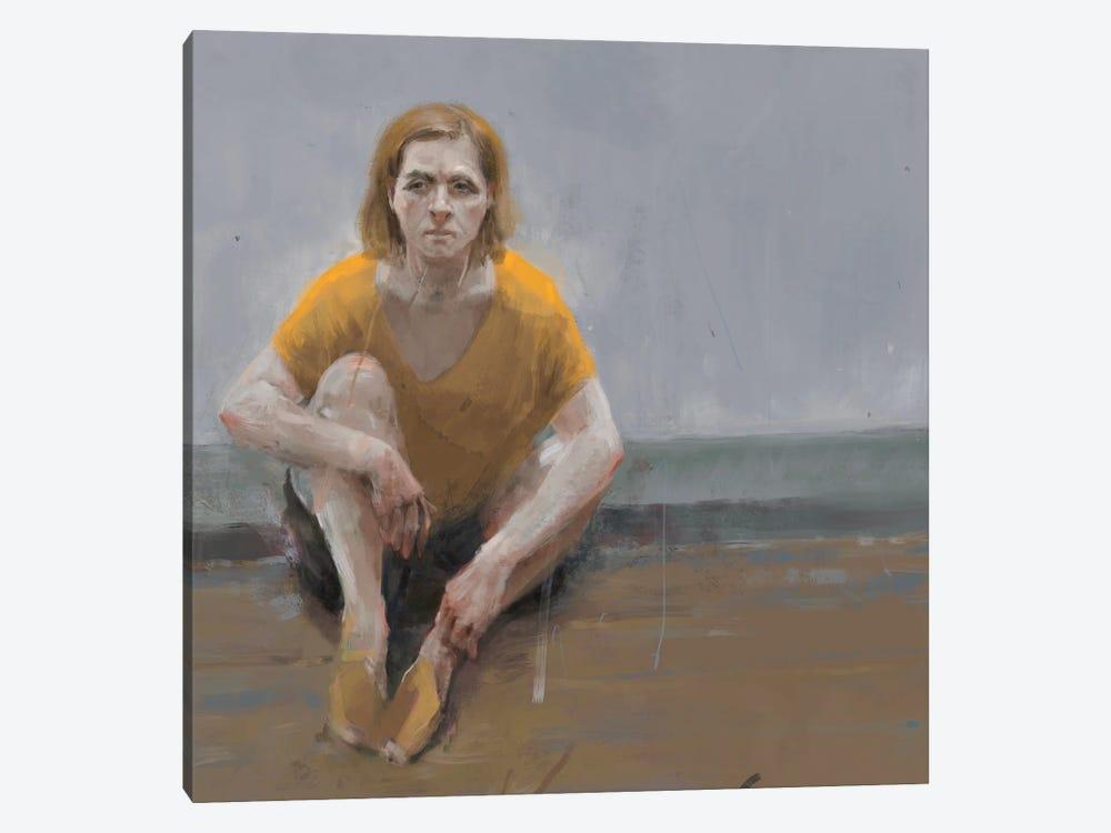 Woman Alone by Anikó Salamon 1-piece Canvas Print