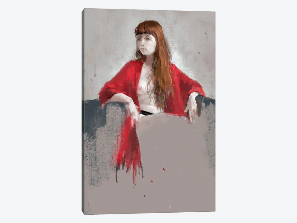 Portrait Of Youngness by Anikó Salamon 1-piece Canvas Artwork