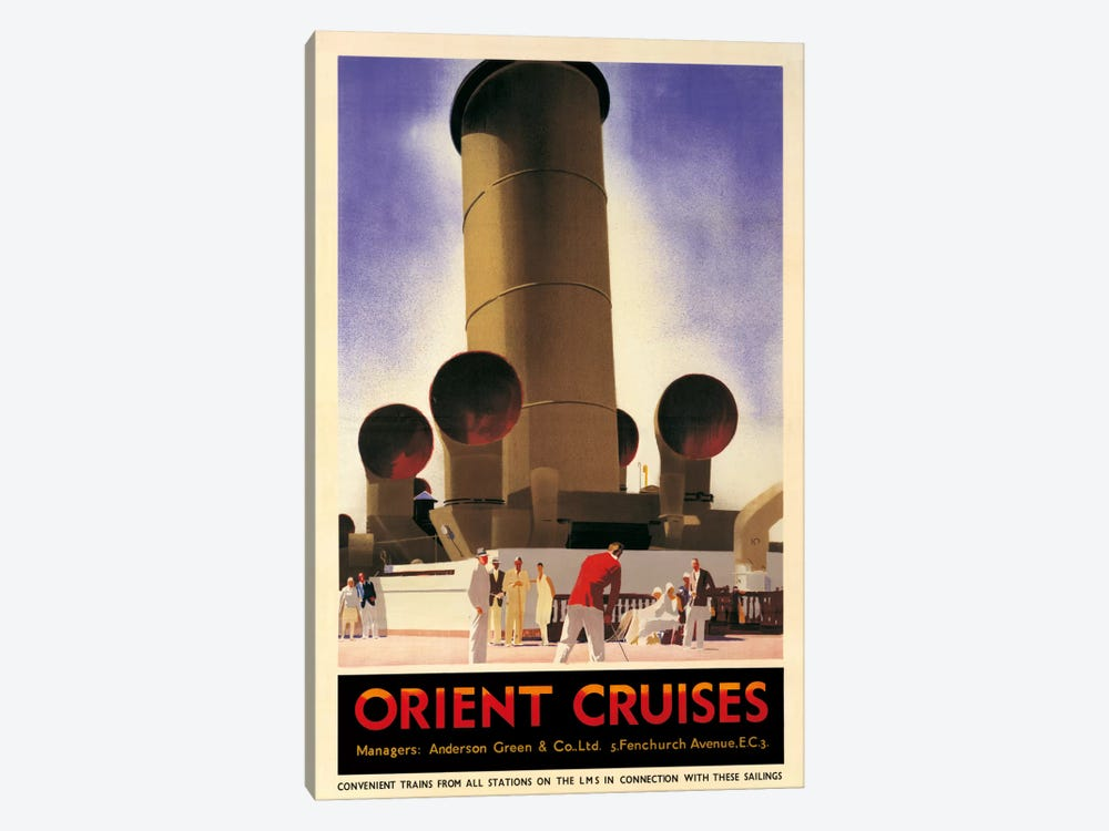 Orient Cruises, 1930 Ca. by Andrew Johnson 1-piece Canvas Print