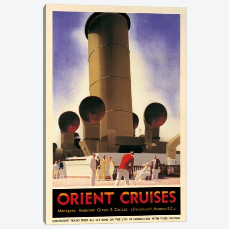 Orient Cruises, 1930 Ca. Canvas Print #ANJ1} by Andrew Johnson Canvas Art