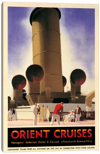 Orient Cruises, 1930 Ca. Canvas Art Print