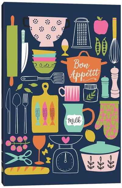 In The Kitchen V Canvas Art Print