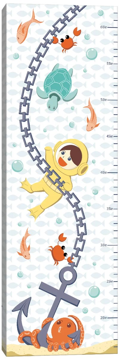Creatures Of The Sea Growth Chart Canvas Art Print