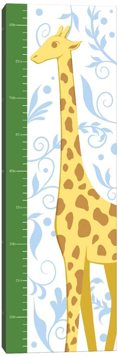 Gorgeous Giraffe Growth Chart Canvas Art Print