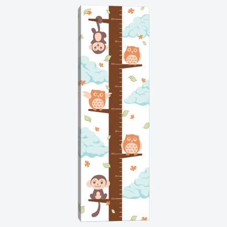 Hanging On The Treetop Growth Chart Canvas Print #ANM3} by 5by5collective Canvas Art Print