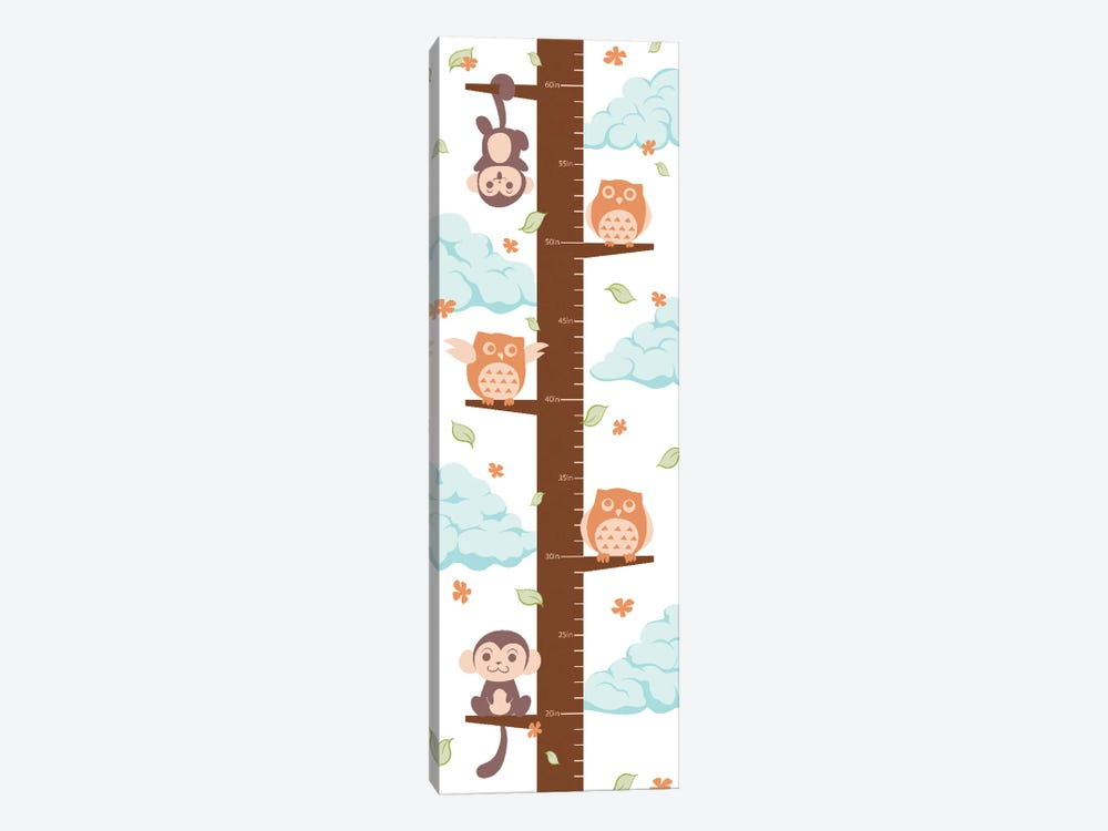 Hanging On The Treetop Growth Chart by 5by5collective 1-piece Canvas Wall Art