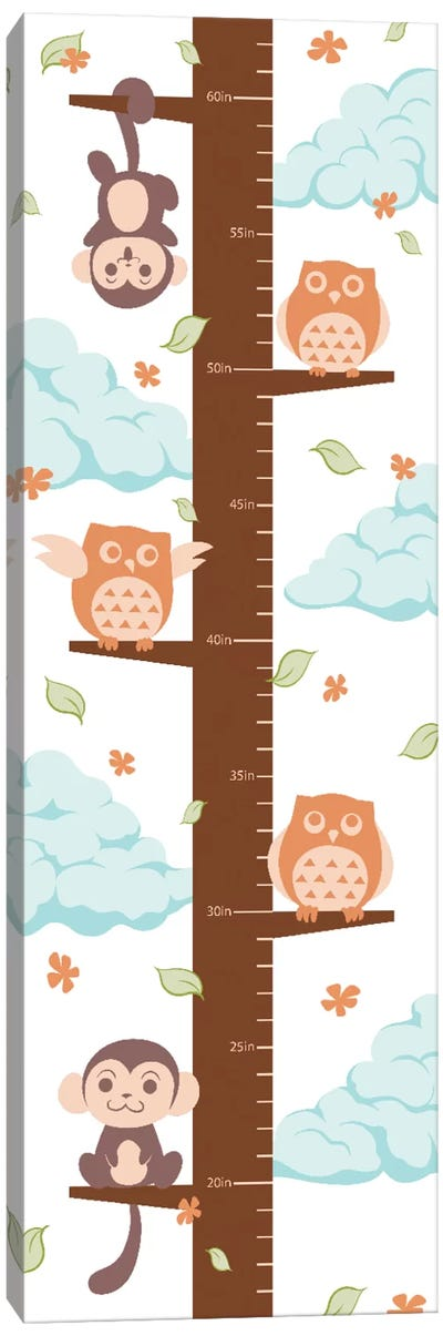 Hanging On The Treetop Growth Chart Canvas Art Print