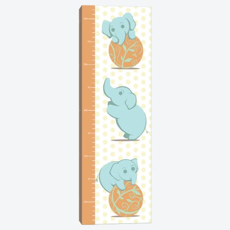 Play Like An Elephant Growth Chart Canvas Print #ANM4} by 5by5collective Canvas Artwork