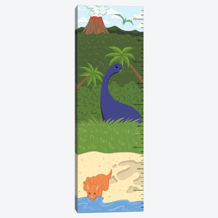 The Age Of Dinosaurs Growth Chart Canvas Print #ANM5} by 5by5collective Canvas Wall Art