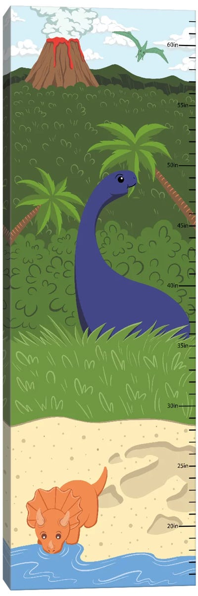 The Age Of Dinosaurs Growth Chart Canvas Print #ANM5