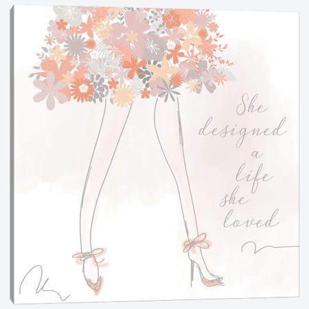 She Designed a Life She Loved Canvas Print #ANQ119} by Anna Quach Canvas Art Print