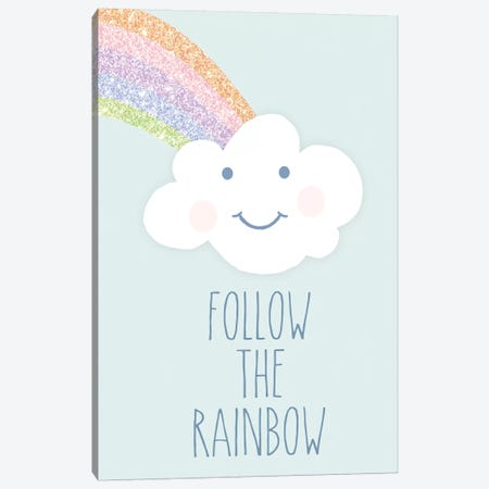 Follow the Rainbow Canvas Print #ANQ14} by Anna Quach Canvas Art Print