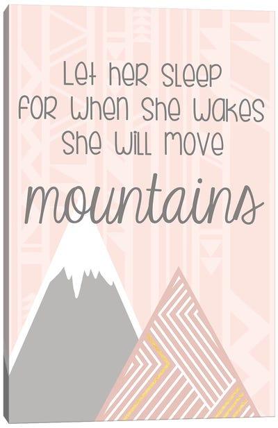 She'll Move Mountains Canvas Art Print