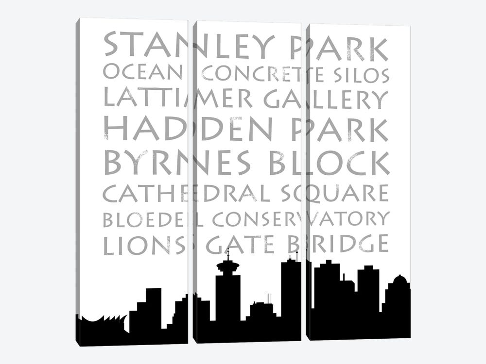 Vancouver Skyline Square 3-piece Canvas Art
