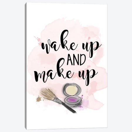 Wake Up & Make Up Canvas Print #ANQ30} by Anna Quach Canvas Art
