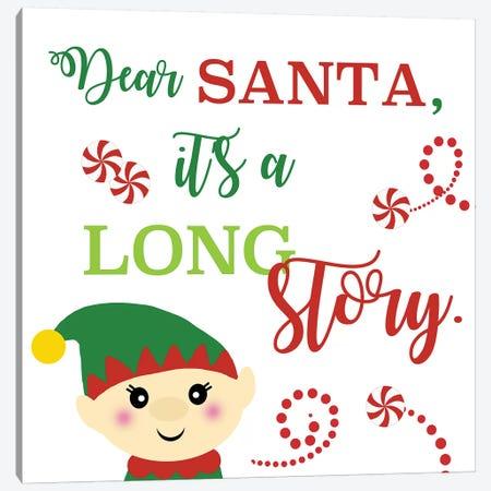 Dear Santa Canvas Print #ANQ35} by Anna Quach Art Print