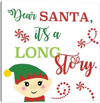 Dear Santa Canvas Art Print