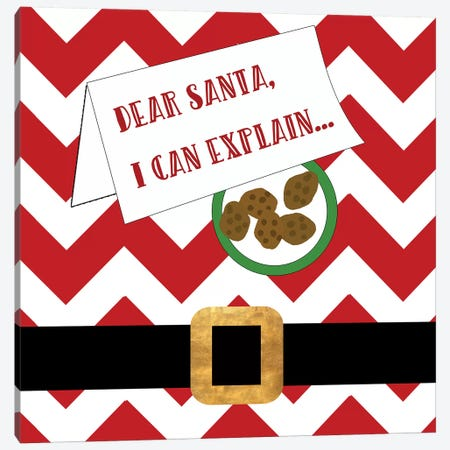 Dear Santa, I Can Explain Canvas Print #ANQ36} by Anna Quach Art Print