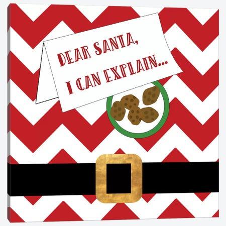 Dear Santa, I Can Explain Canvas Print #ANQ36} by Anna Quach Art Print