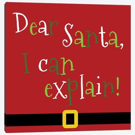 Dear Santa, I Can Explain Canvas Print #ANQ37} by Anna Quach Art Print