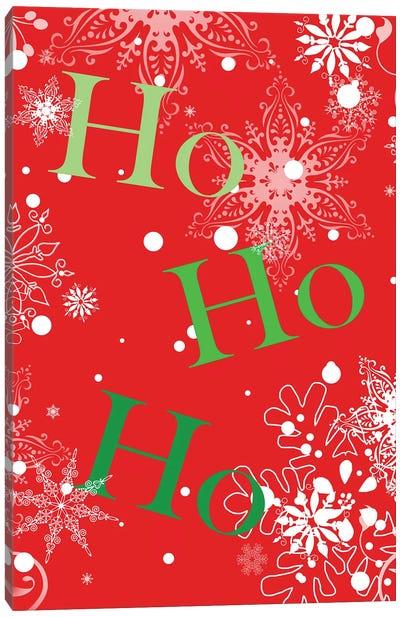 Ho Ho Ho (Red) Canvas Art Print