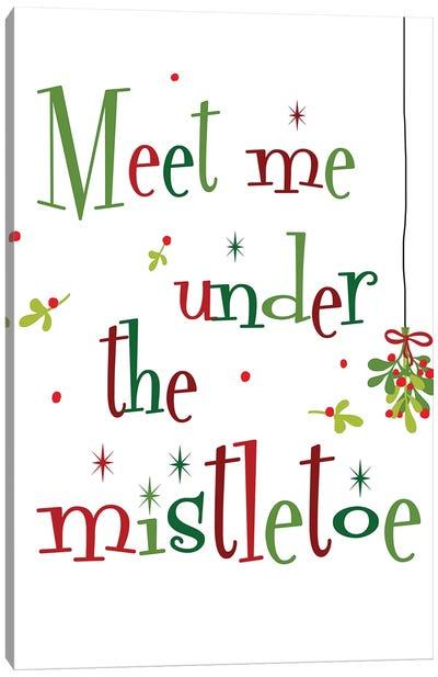 Meet me Under the Mistletoe Canvas Art Print