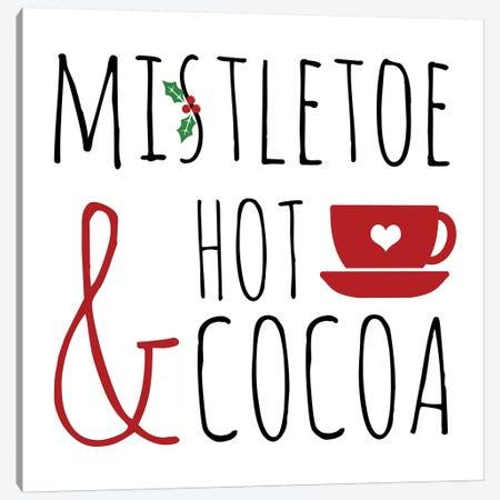 Mistletoe and Hot Cocoa Canvas Print #ANQ42} by Anna Quach Canvas Print