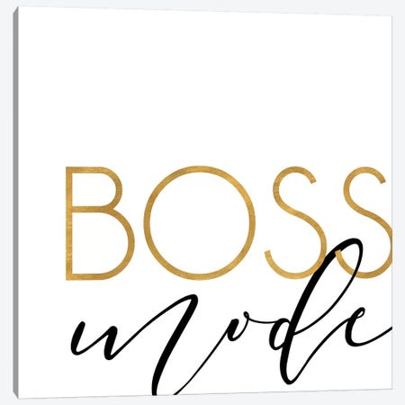 Boss Mode Canvas Print #ANQ50} by Anna Quach Canvas Wall Art