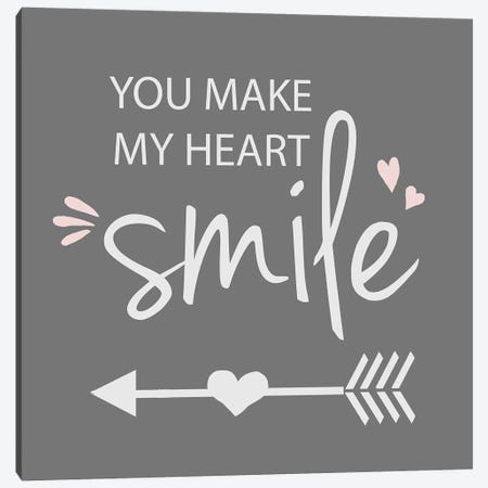 You Make My Heart Smile Canvas Print #ANQ58} by Anna Quach Canvas Art