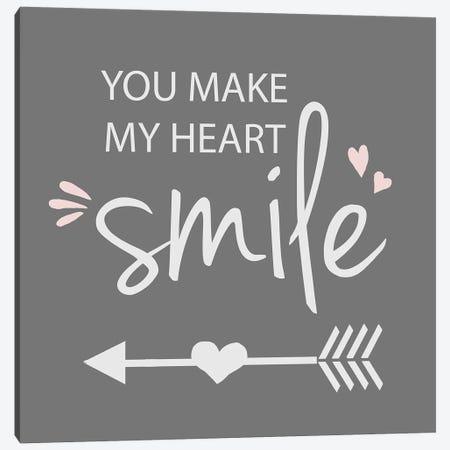 You Make My Heart Smile Canvas Print #ANQ58} by Anna Quach Canvas Art