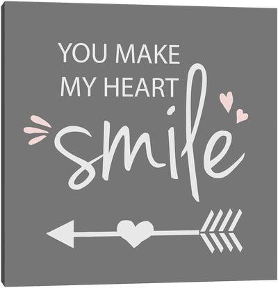 You Make My Heart Smile Canvas Art Print