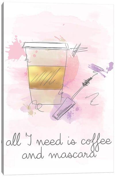 Coffee and Mascara Canvas Art Print