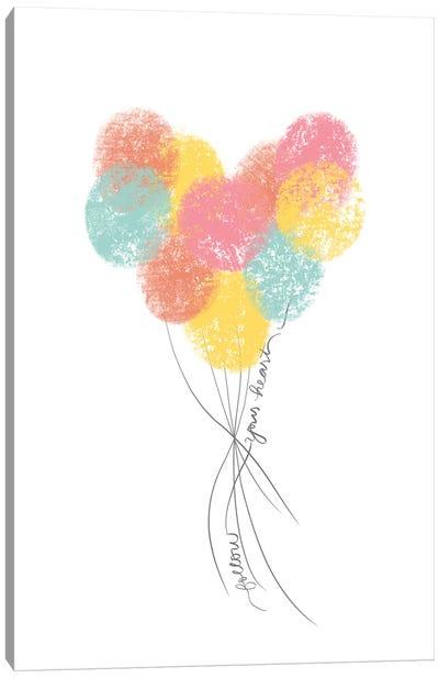 Follow Your Heart Balloons Canvas Art Print