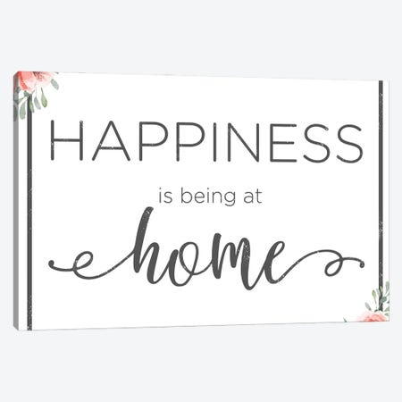 Happiness Is Being At Home Canvas Print #ANQ87} by Anna Quach Canvas Art