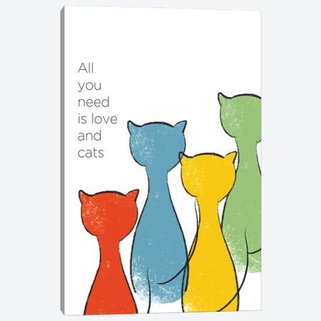 Love And Cats Canvas Print #ANQ90} by Anna Quach Canvas Art