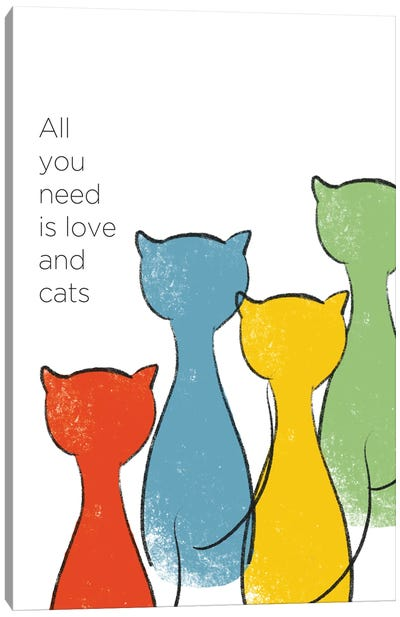 Love And Cats Canvas Art Print