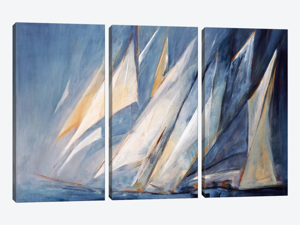 Against The Wind by Maria Antonia Torres 3-piece Canvas Print