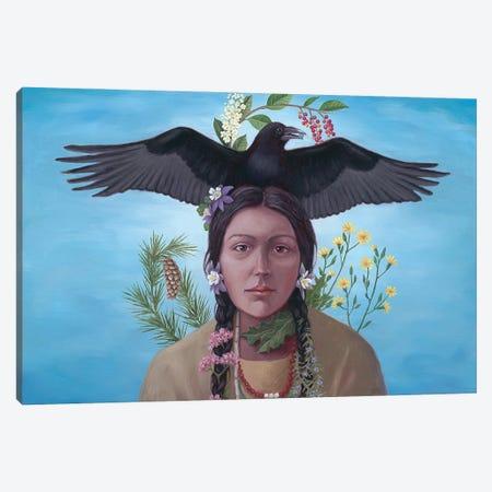 Raven Runner Canvas Print #ANU10} by Anna Magruder Canvas Artwork