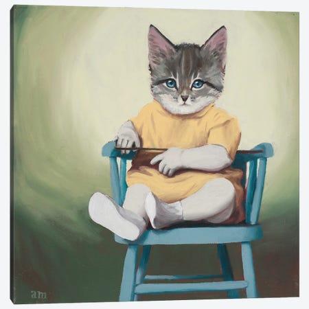 Blue Chair Canvas Print #ANU24} by Anna Magruder Canvas Artwork