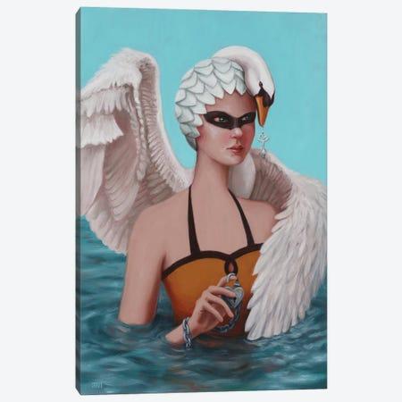 Swan Maiden Canvas Print #ANU31} by Anna Magruder Canvas Wall Art