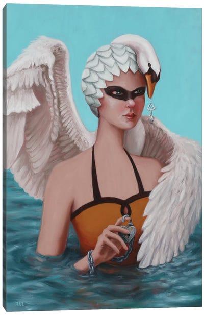Swan Maiden Canvas Art Print