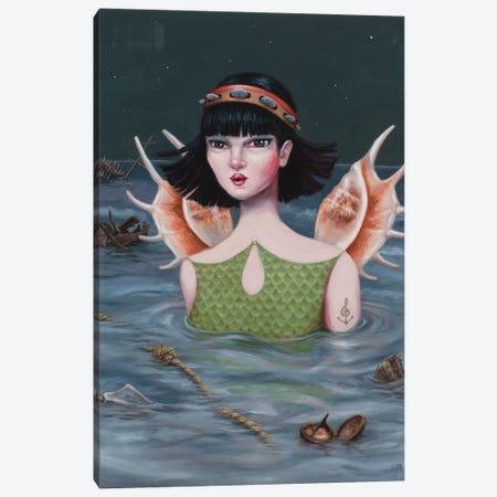 Siren Canvas Print #ANU34} by Anna Magruder Art Print