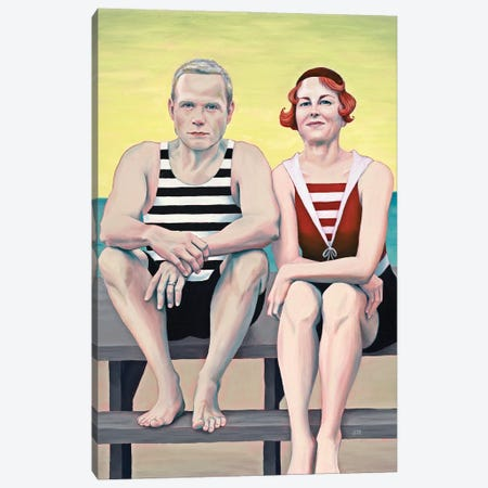 Boardwalk Canvas Print #ANU52} by Anna Magruder Canvas Art