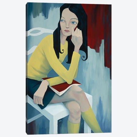 Seated Girl Canvas Print #ANU53} by Anna Magruder Canvas Artwork