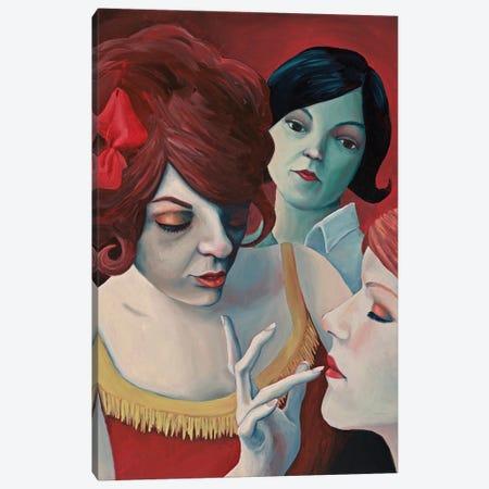 Drama Girls Canvas Print #ANU54} by Anna Magruder Art Print