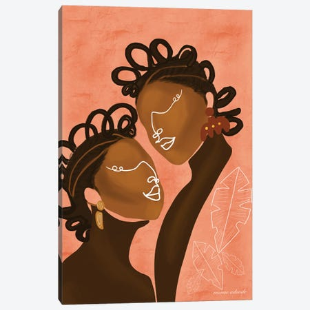 The Ladies Canvas Print #AOD11} by Manue Adoude Canvas Art