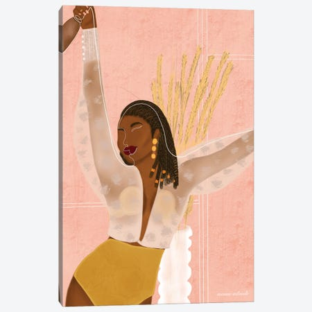 Aya Canvas Print #AOD12} by Manue Adoude Canvas Artwork