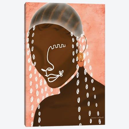 Cauris Girl Canvas Print #AOD13} by Manue Adoude Canvas Wall Art