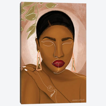 Awa Canvas Print #AOD17} by Manue Adoude Canvas Print