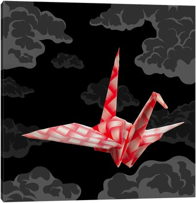 The Fleeting Paper Crane Canvas Print #AOO10